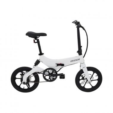iWatBike iRider - Bicicleta Eléctrica Plegable Blanca