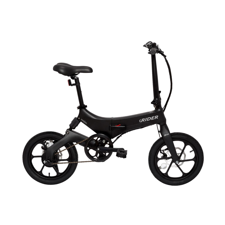 iWatBike iRider - Bicicleta Eléctrica Plegable Negra