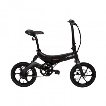 iWatBike iRider - Bici Elettrica Pieghevole Nero Nero